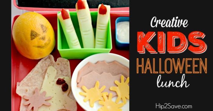 Creative Kids Halloween Lunch