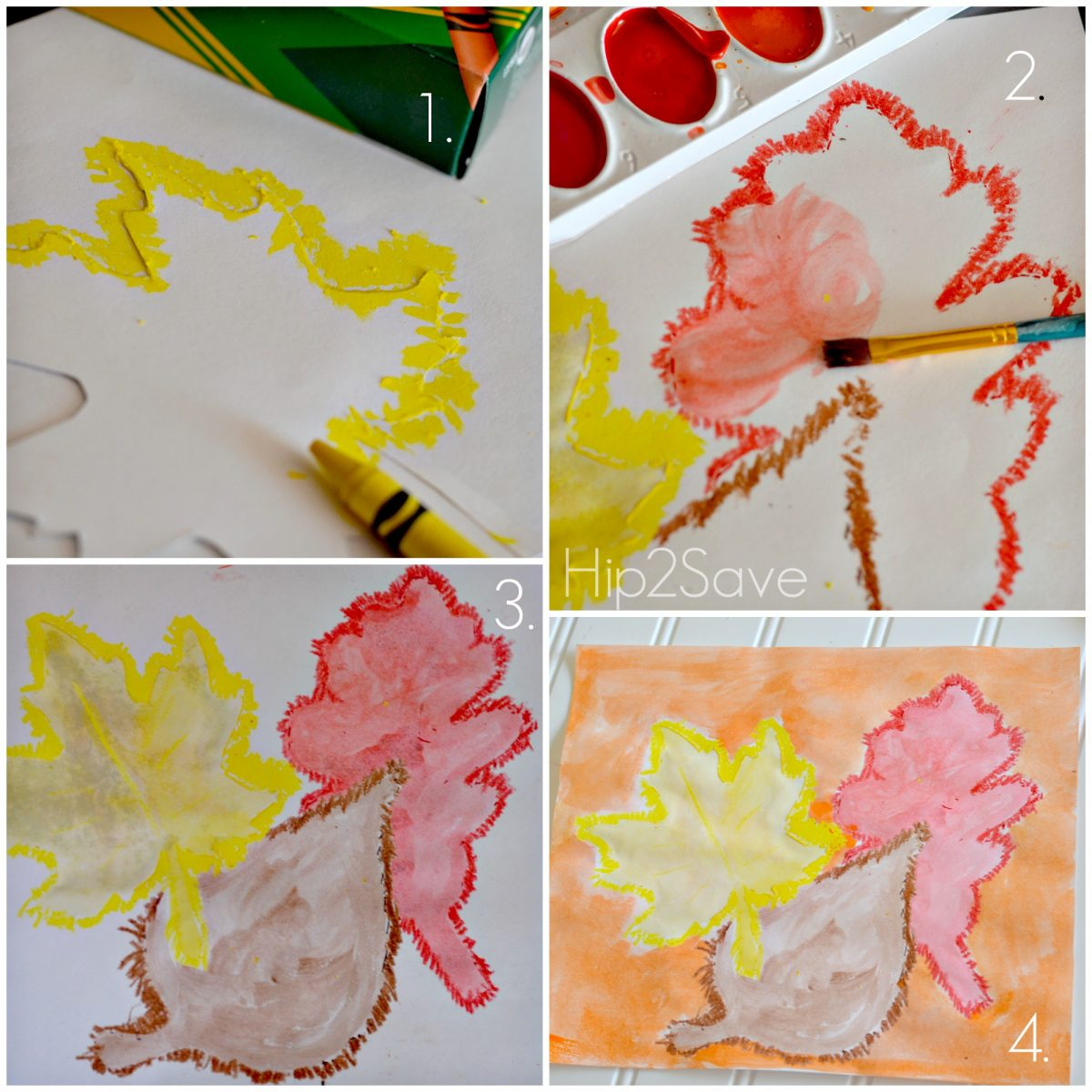 Fall water color craft instructions Hip2Save