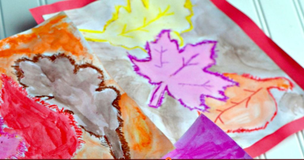 fall watercolor craft for kids