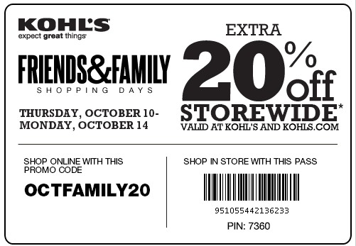 coupon for kohls in store