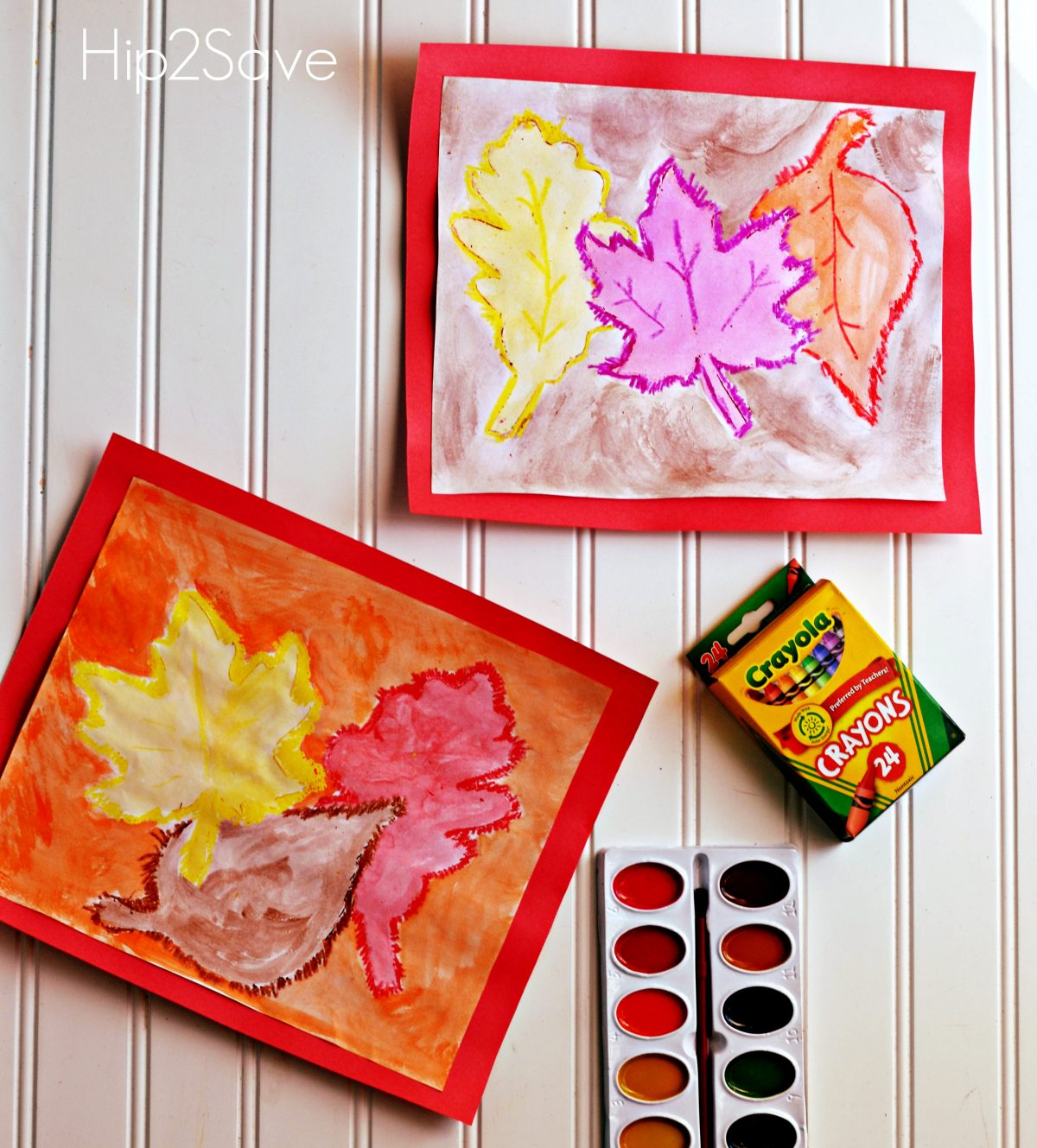 Leaf Watercolor Art project for Fall Hip2Save