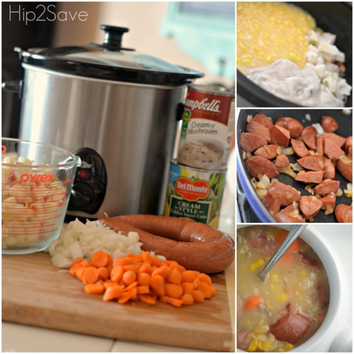 how to make sausage corn chowder