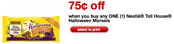 0 75 1 Nestle Toll House Halloween Morsels Coupon Print Use On Halloween Clearance Hip2save