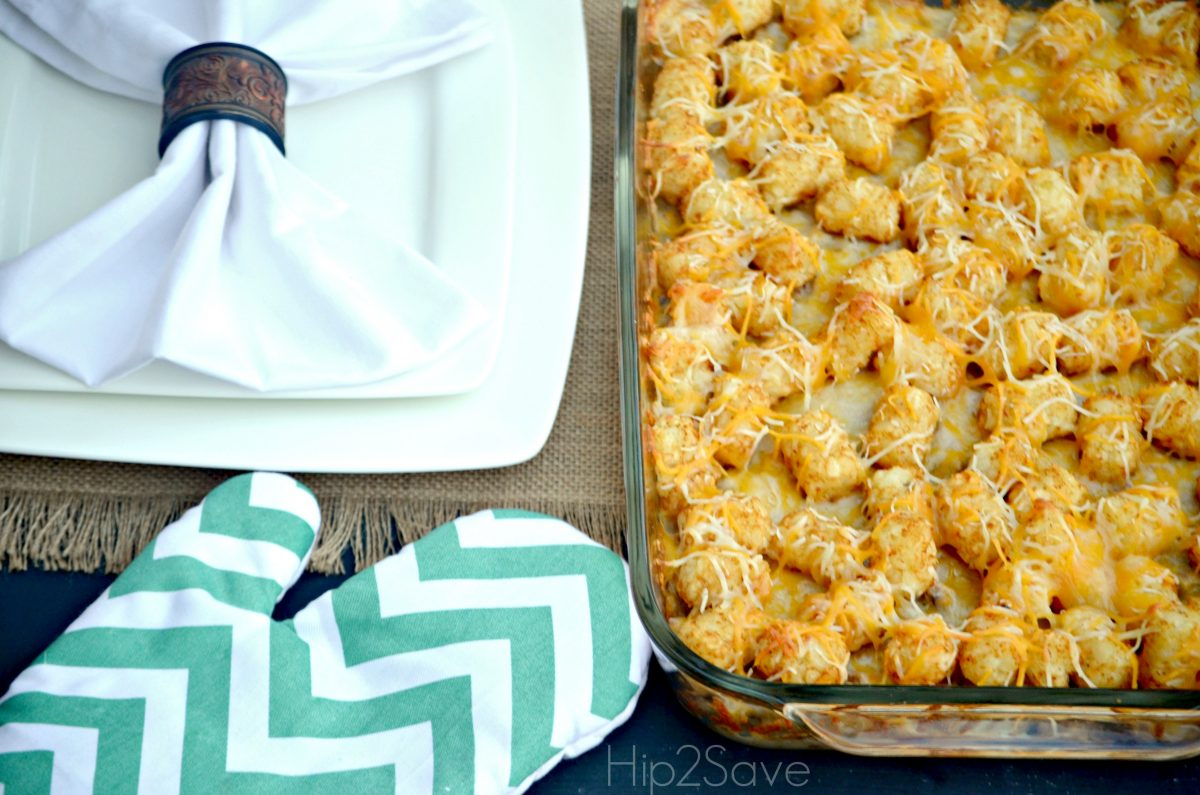 Easy Tatertot Casserole Hip2Save