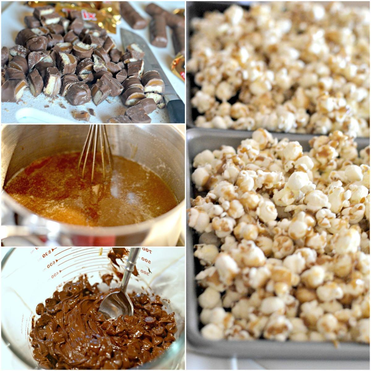 twix caramel popcorn recipe – the steps to make the Twix popcorn recipe