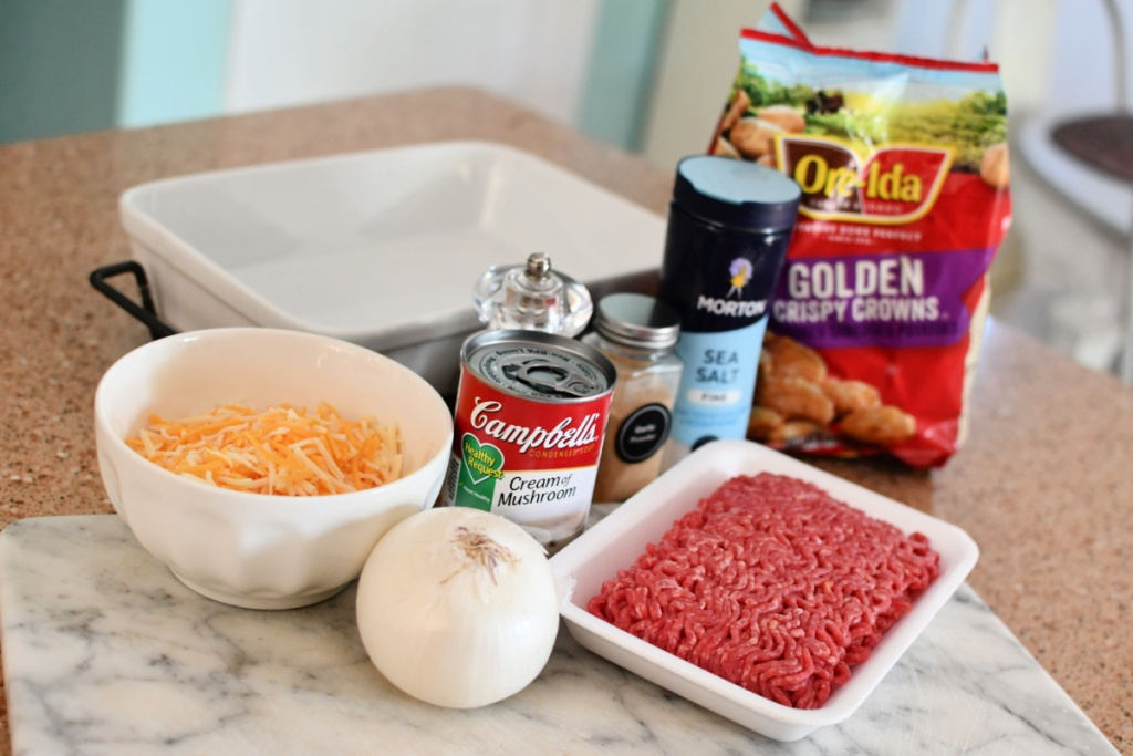 ingredients for tater tot casserole
