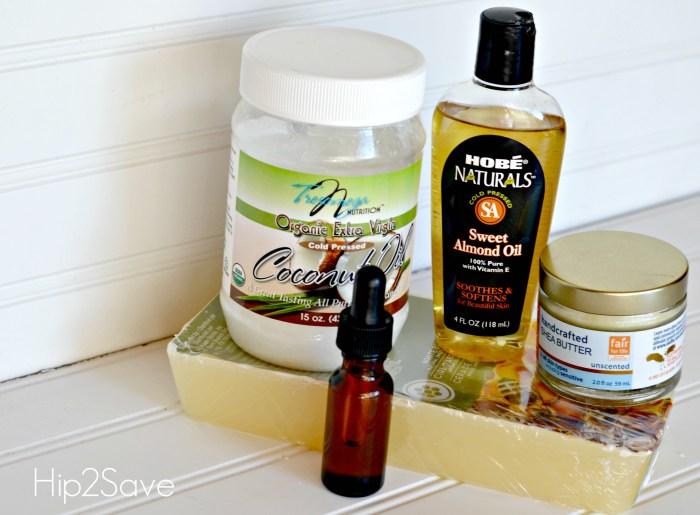 Ingredients to make lip balm Hip2Save