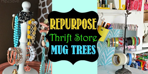 Repurpose Mug Trees (Thrift Store Finds)