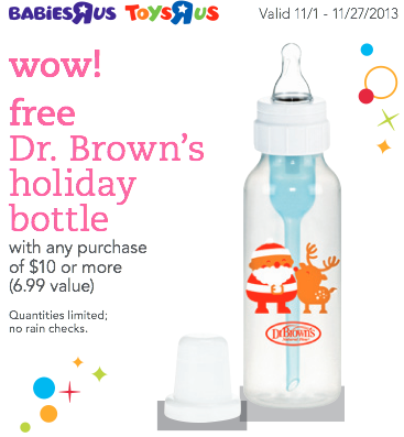 Babiesrus Amp Toysrus Free Dr Brown S Holiday Bottle With