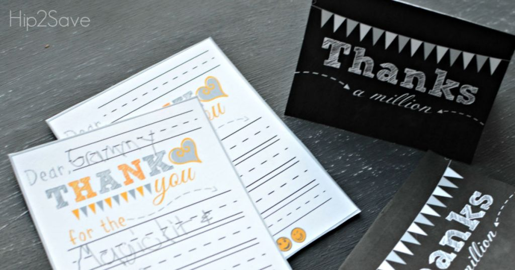 DIY printable Thank you cards