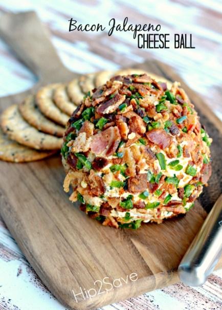 Bacon Jalapeno Cheese Ball Hip2Save