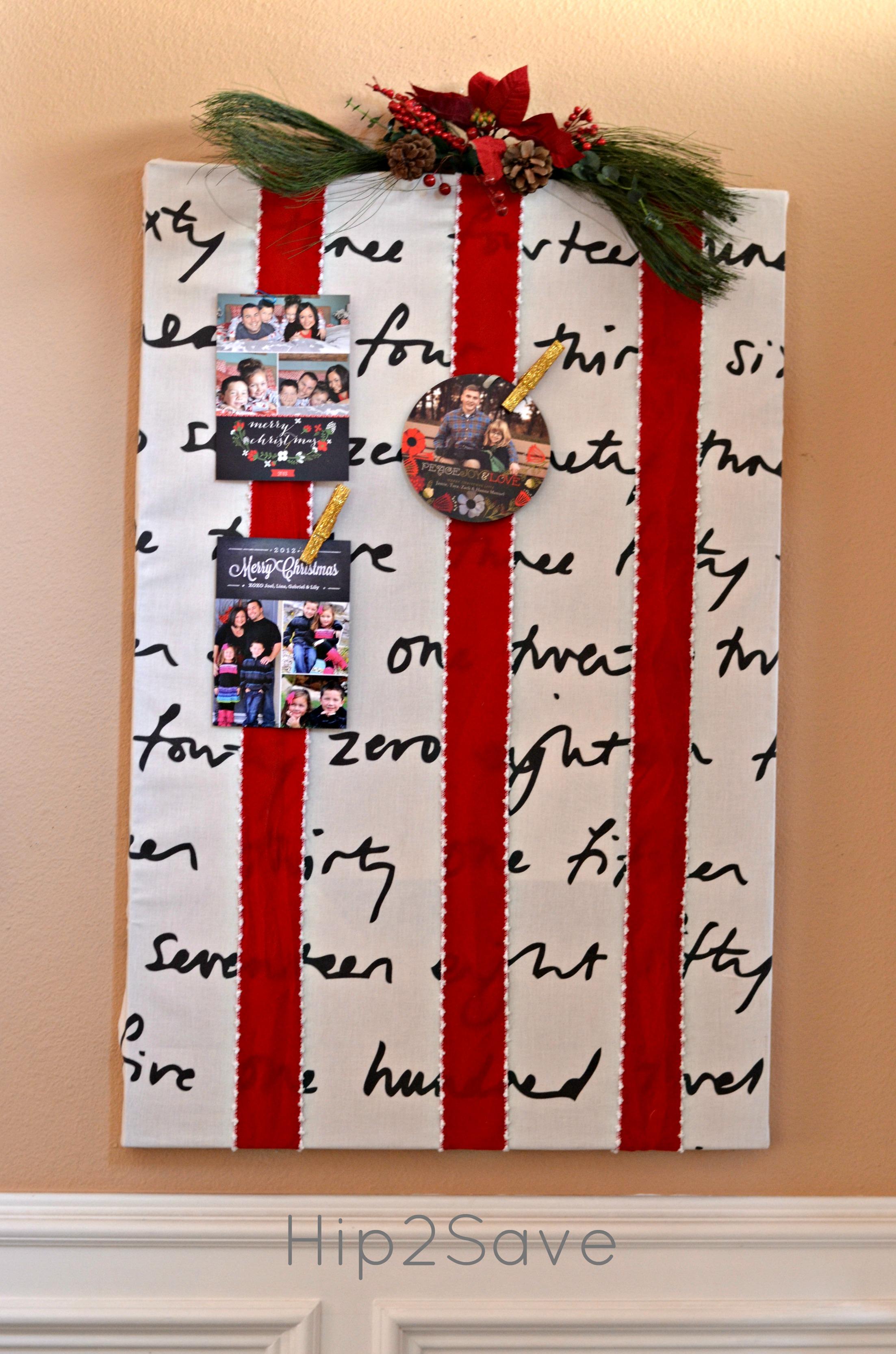 Christmas Card Display Hip2Save