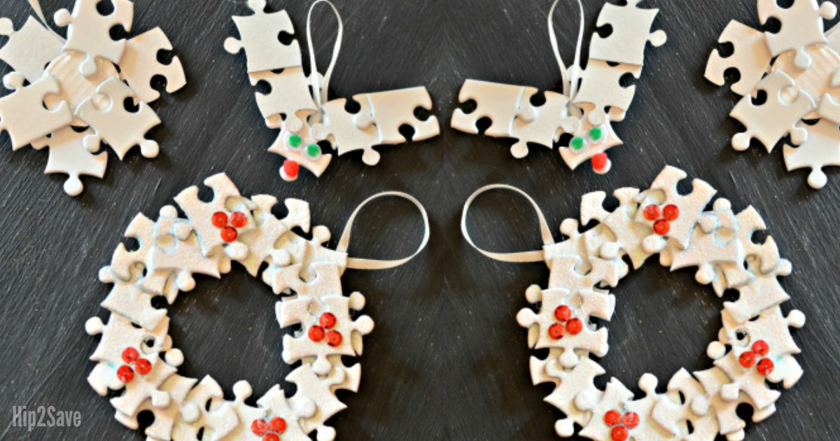 DIY Ornament with puzzle