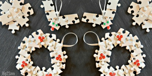 Handmade Puzzle Piece Ornaments (Holiday Craft)