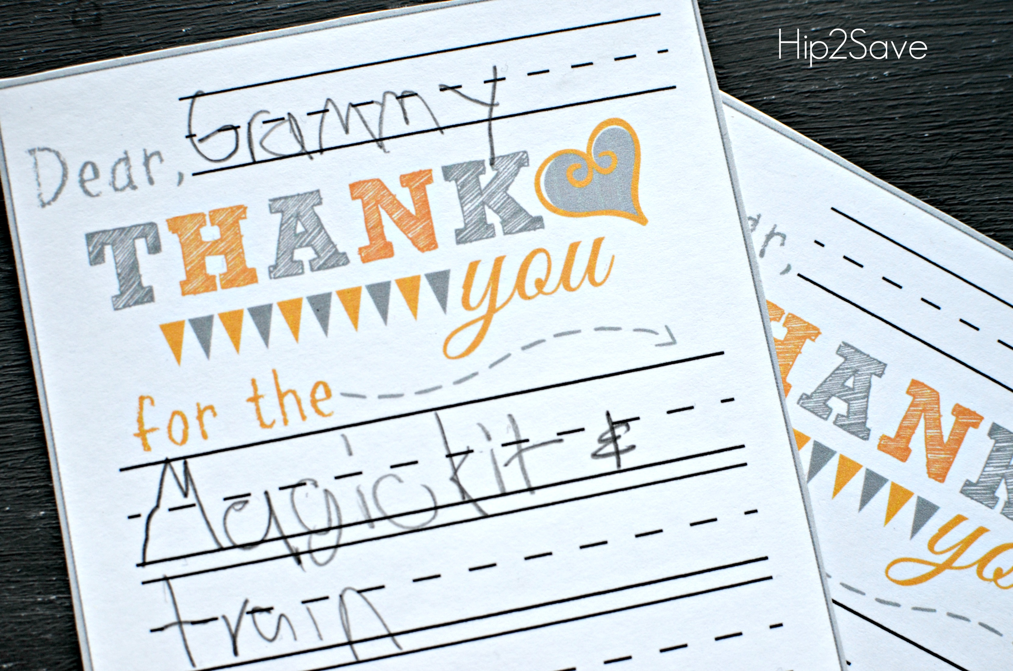 photo regarding Printable Thank You Cards for Kids named No cost Printable Thank Yourself Playing cards - Hip2Help save