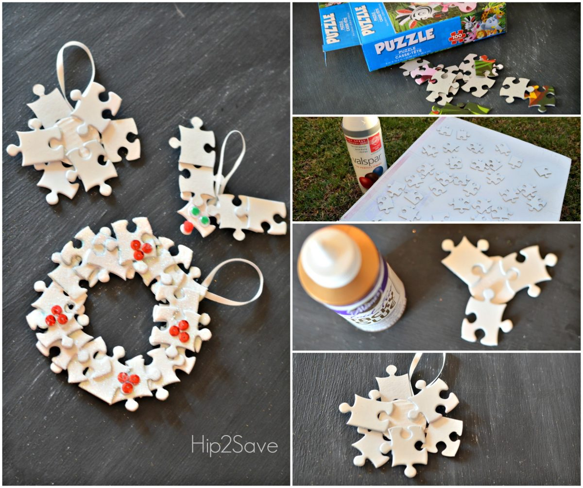 How to make Puzzle Piece Ornaments Hip2Save