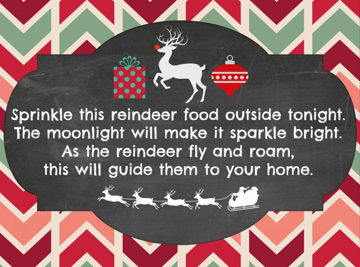 photo about Reindeer Food Poem Printable titled Magic Reindeer Foodstuff