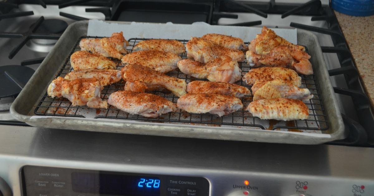 honey bbq baked chicken wings recipe – on a pan prior to baking