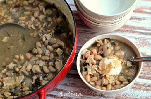 bowl of White Bean Chicken Chili