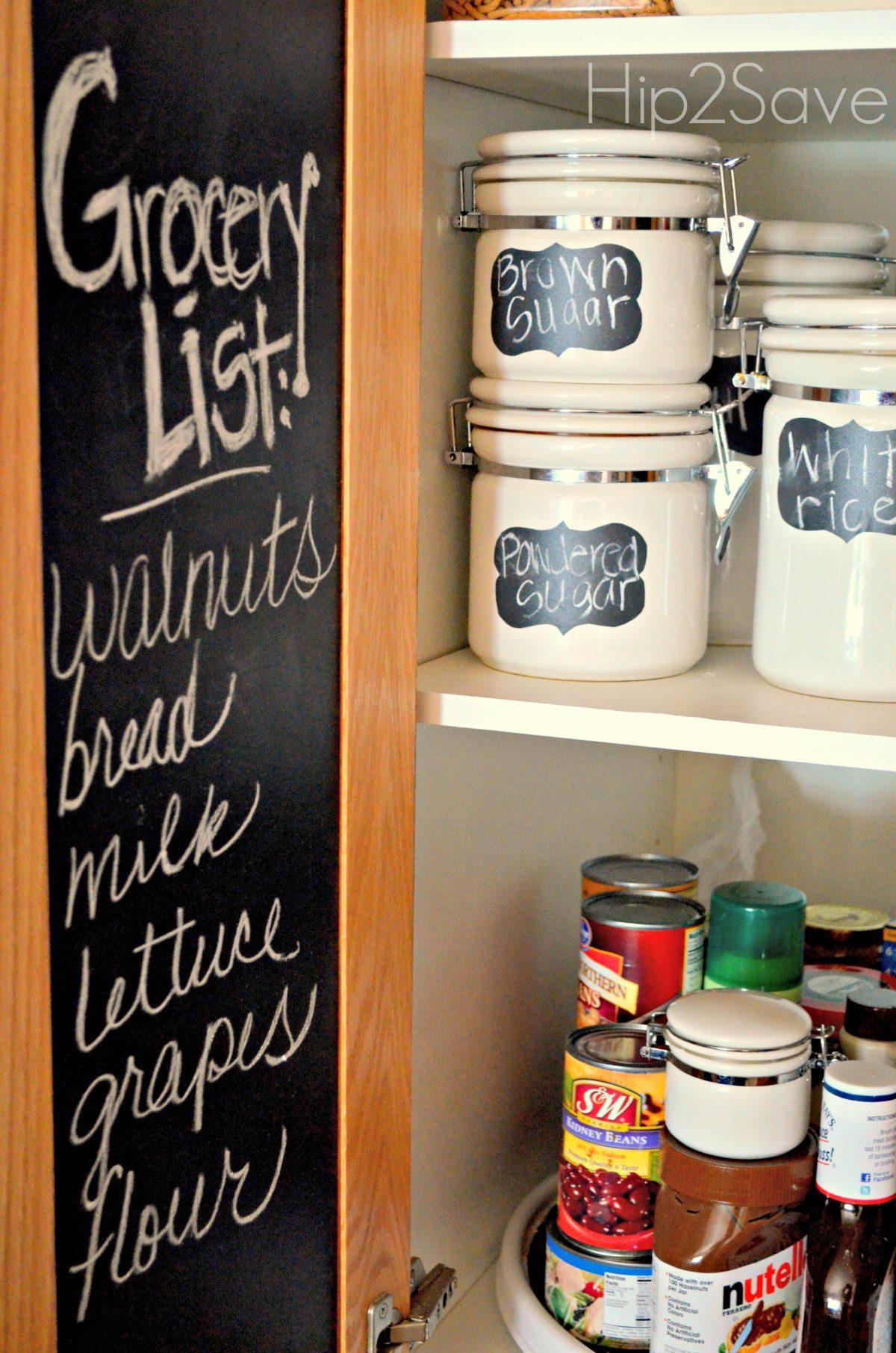 Chalkboard Vinyl on Cabinets