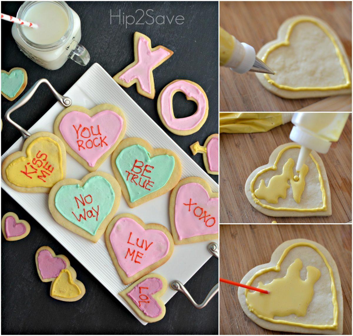 Conversation Heart Cookies Hip2Save