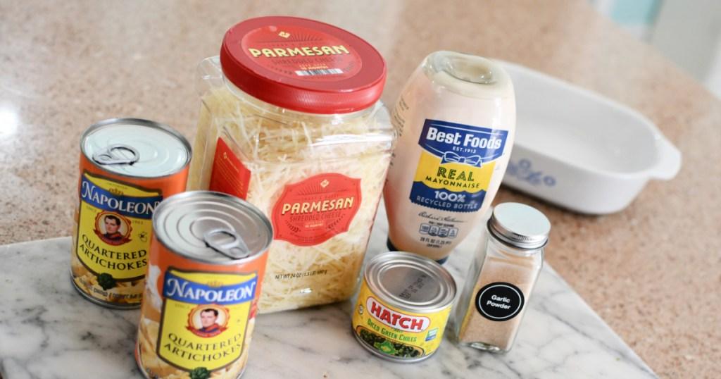 easy artichoke dip ingredients