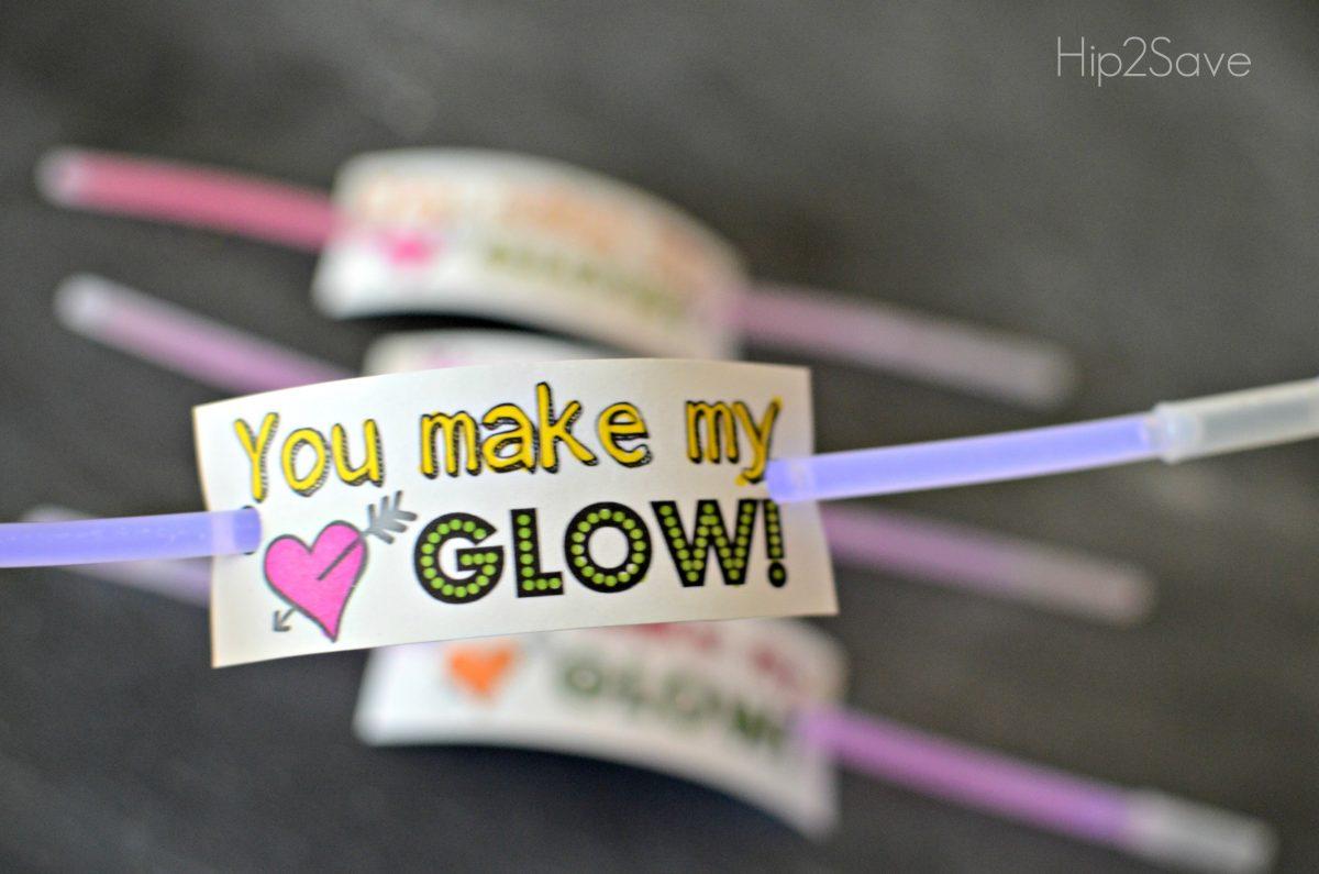 Easy Glow Stick Valentines