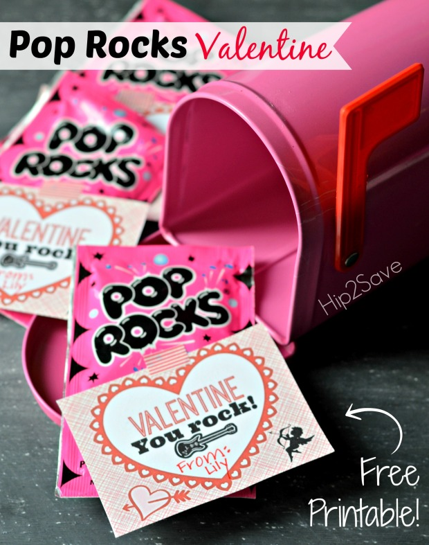 It is a graphic of Simplicity Pop Rocks Valentines Printable