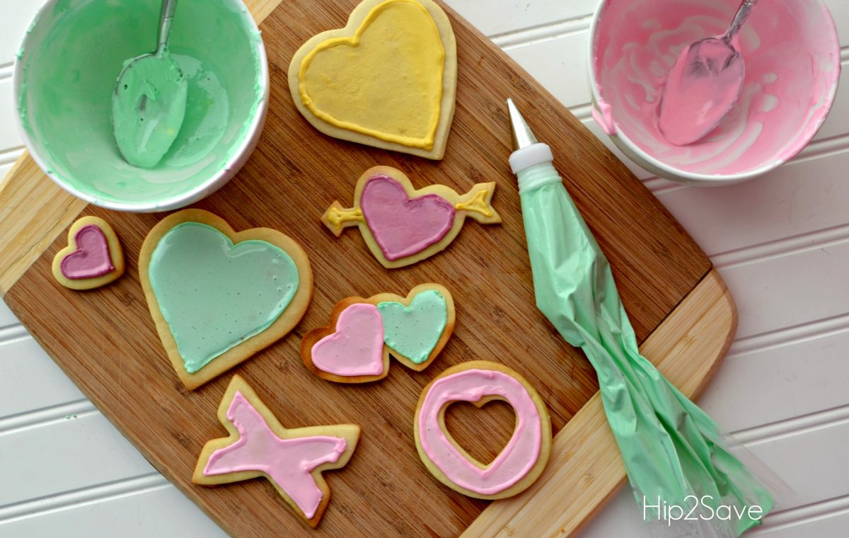 Frosted Valentines Cookies