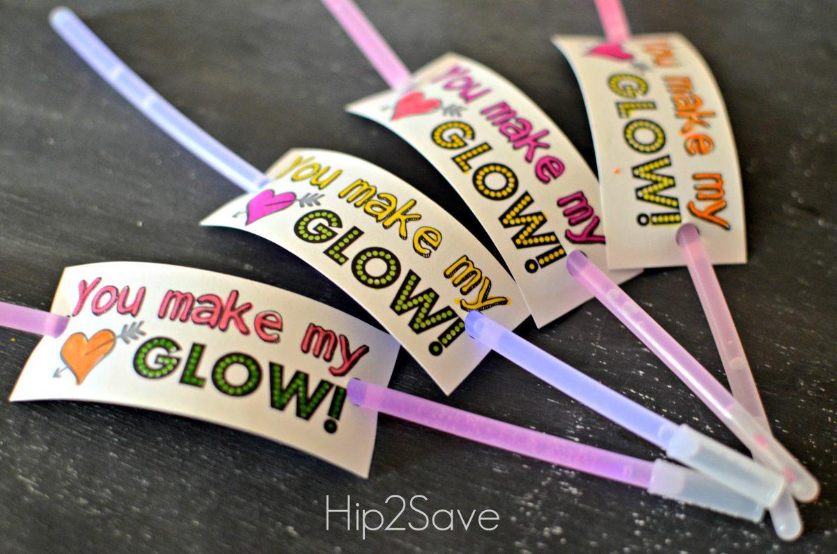 Glow Stick Valentines Hip2Save