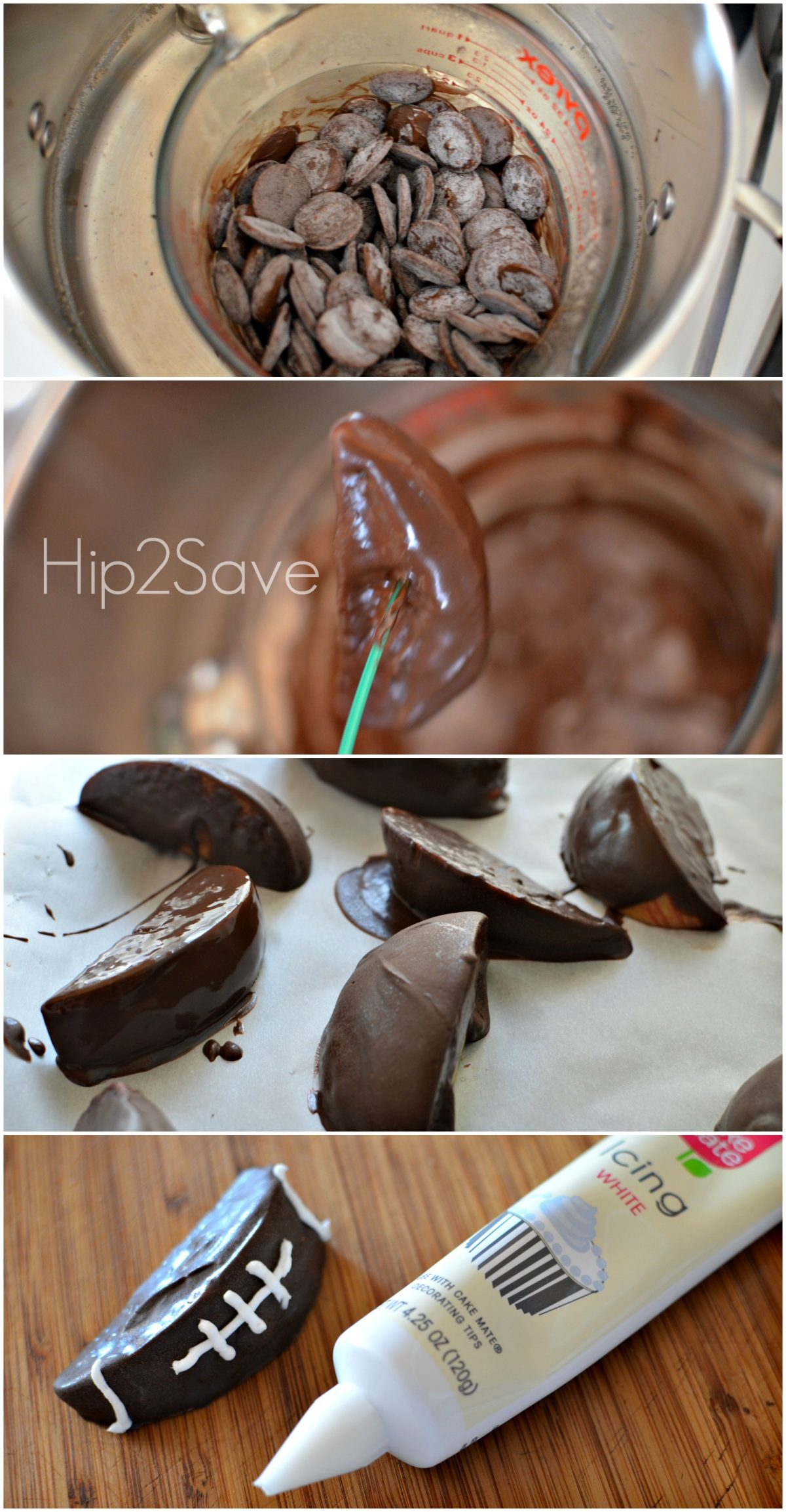 How to make chocolate dipped apple football Hip2Save