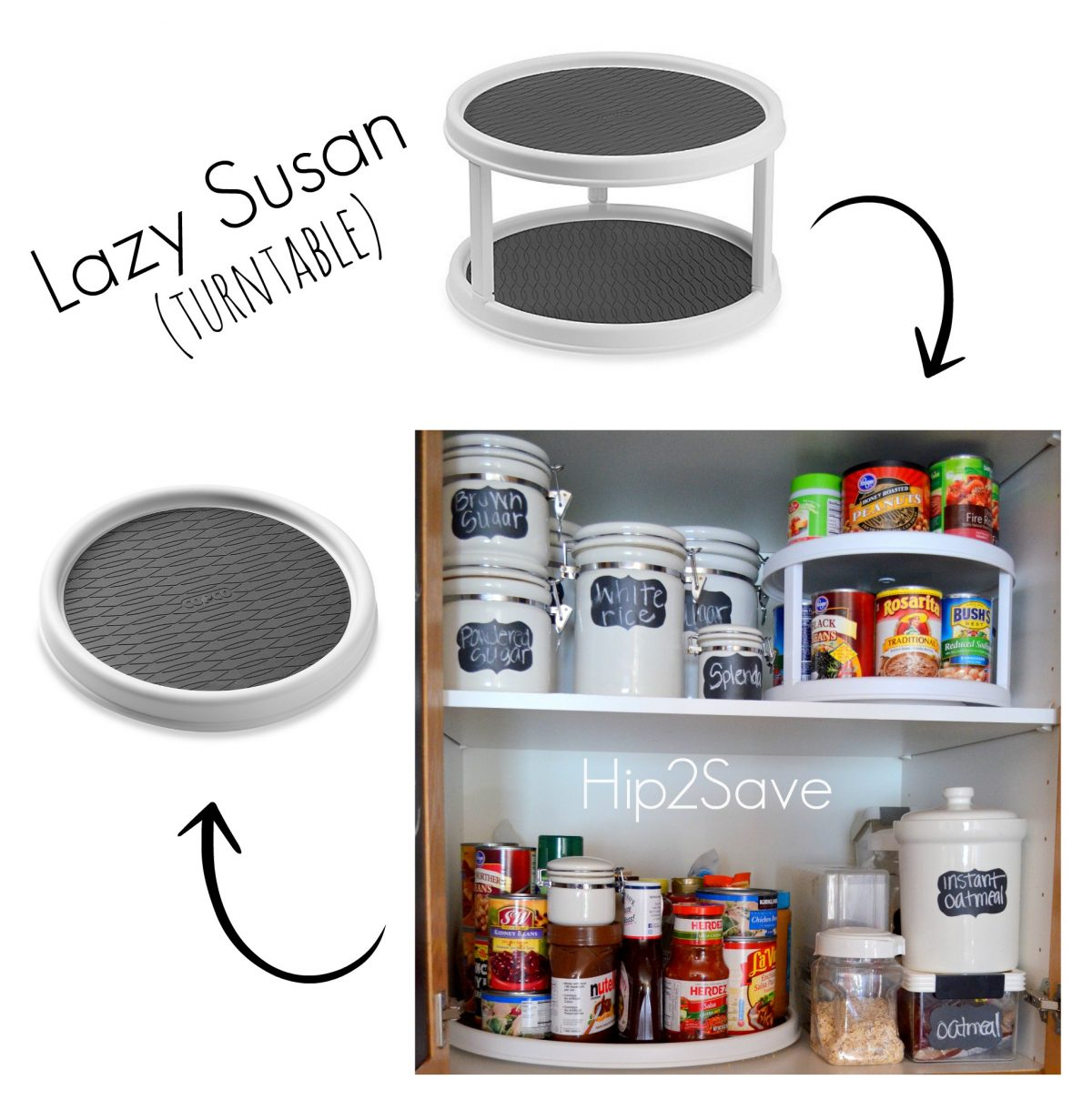 Lazy Susan For Pantry Organization Hip2Save