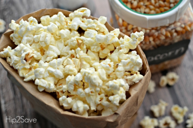 Make popcorn in the microwave Hip2Save