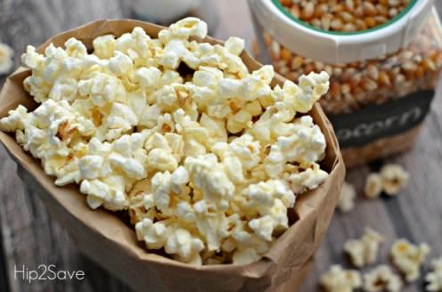 Make popcorn in the microwave Hip2Save