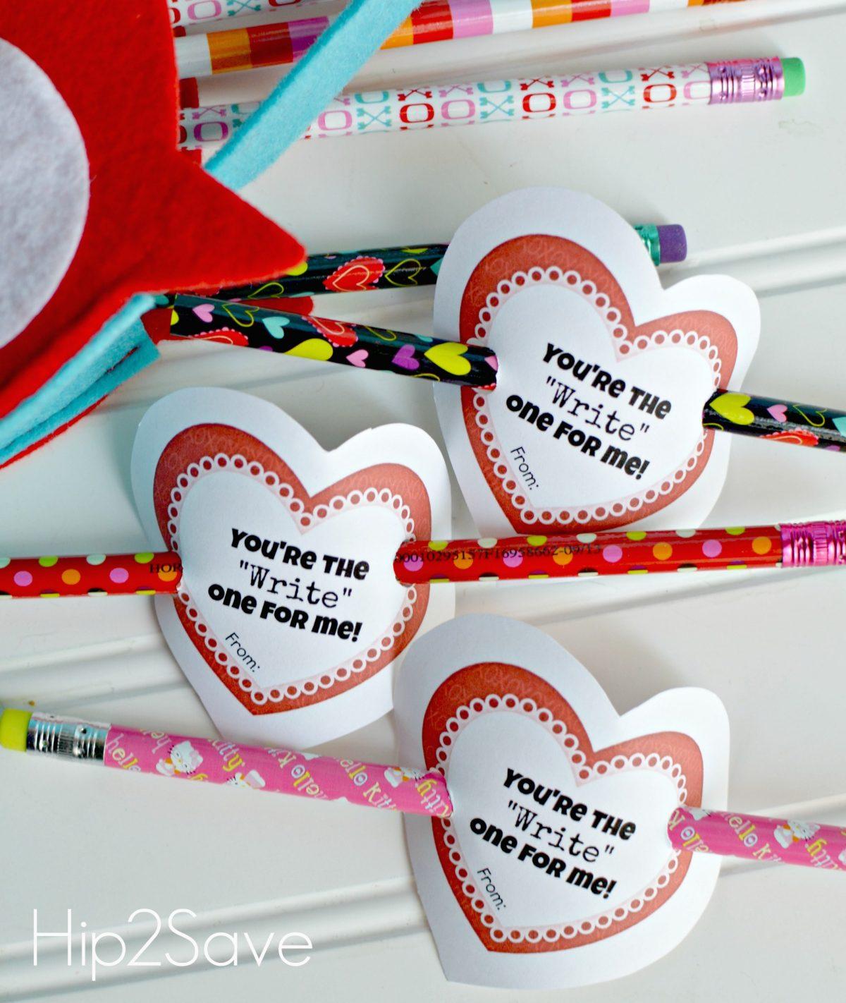 Pencil Classroom Valentines Printables