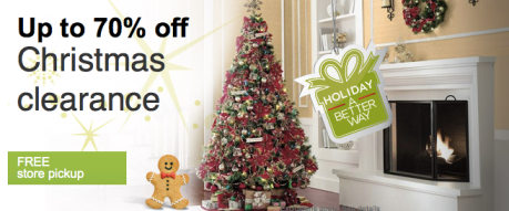 Artificial Christmas Tree Clearance.Sears Com Up To 70 Off Christmas Clearance Great Deals On