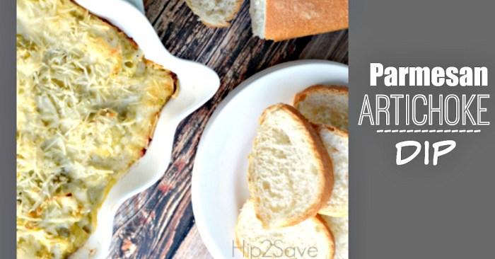 Parmesan Artichoke Dip Hip2Save