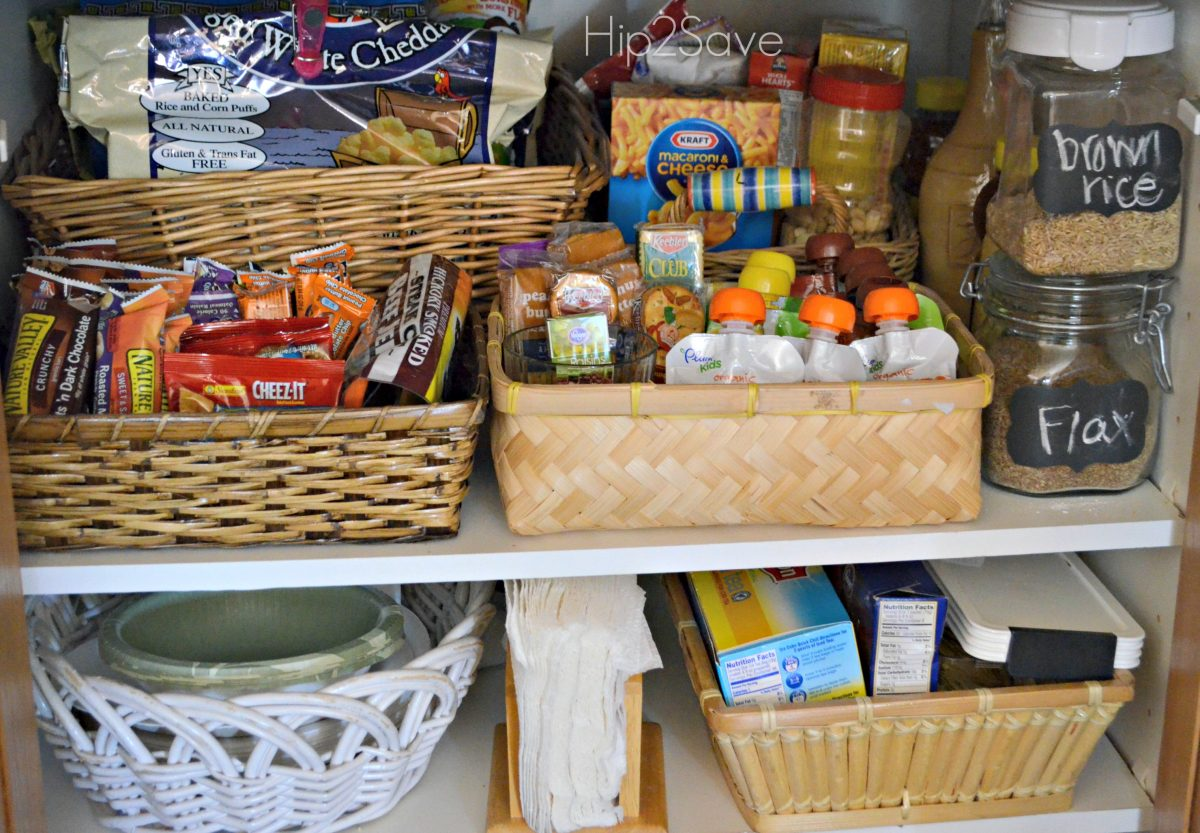 Use baskets for the smaller snack items
