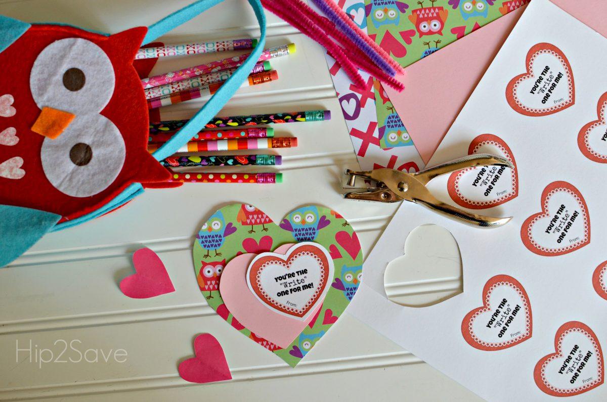 Valentine Pencil Craft Idea Hip2Save