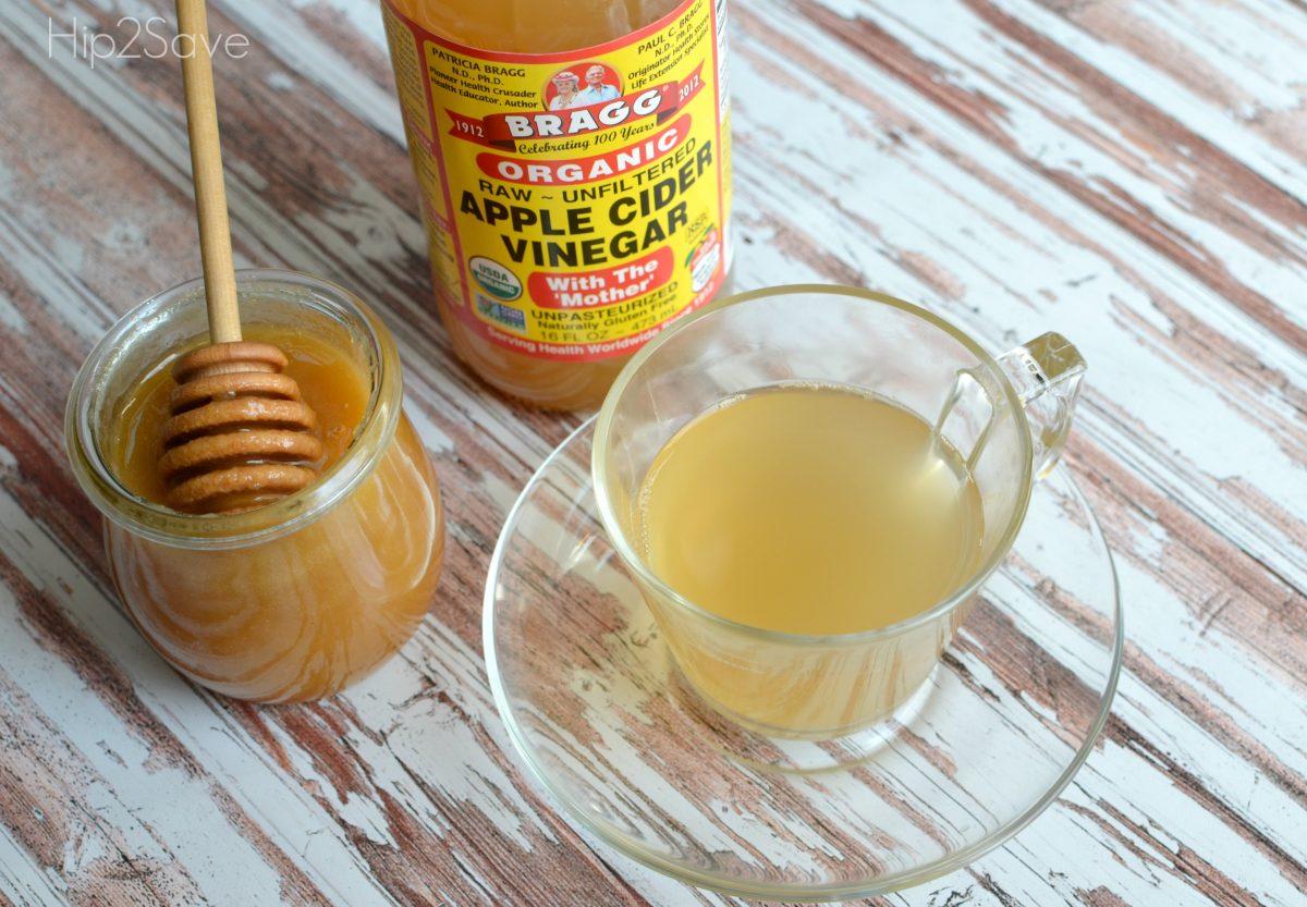 Apple Cider Vinegar & Honey Drink for colds Hip2Save