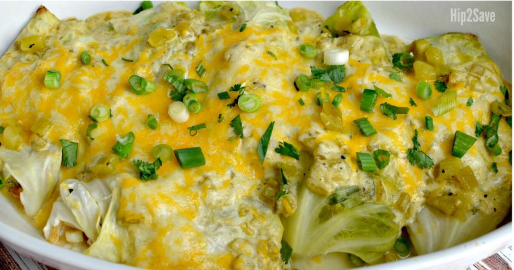 cabbage green chile enchiladas