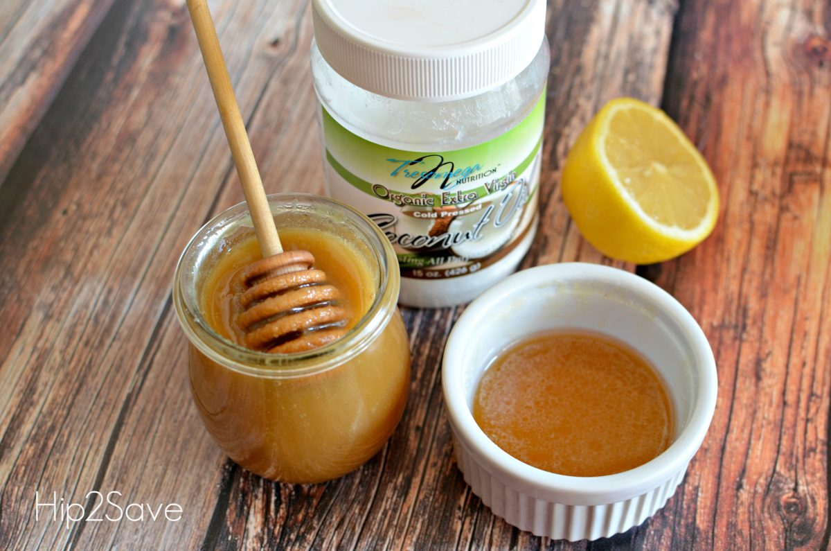 Coconut oil and honey syrup for a cold Hip2Save