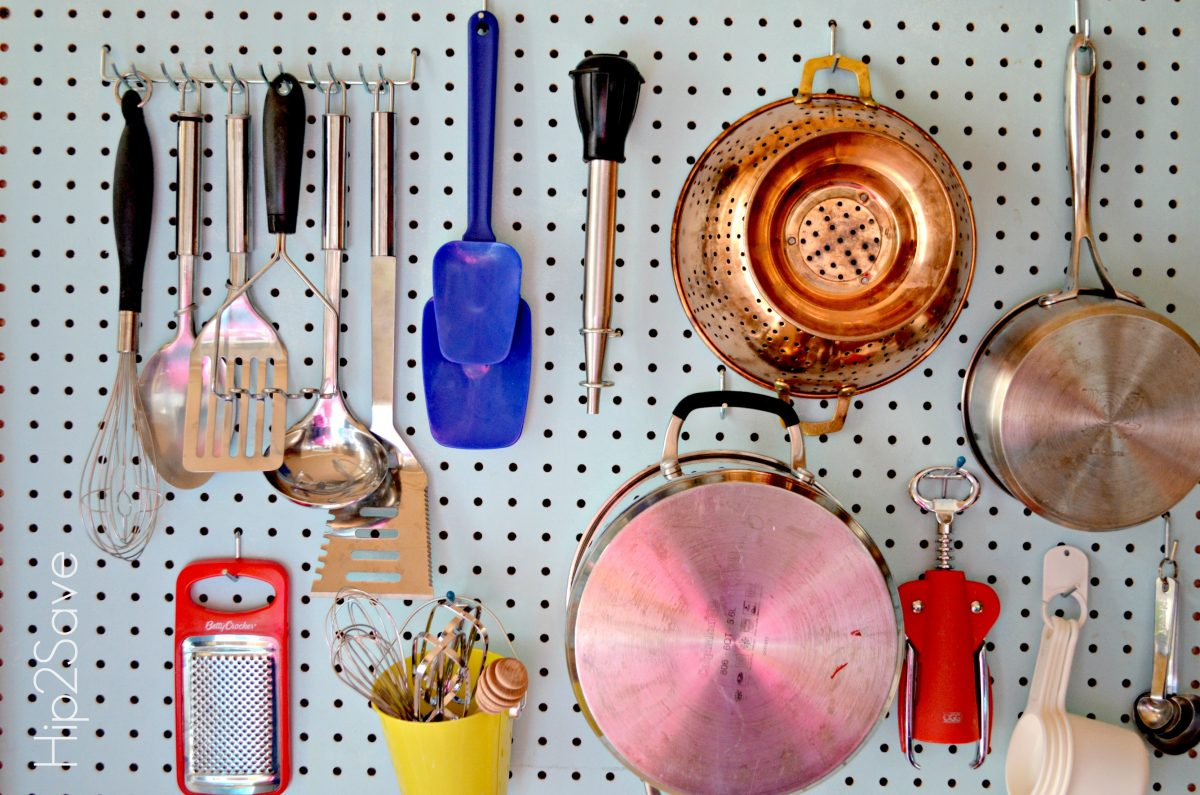 Kitchen Pegboard Organization Hip2Save,jpg