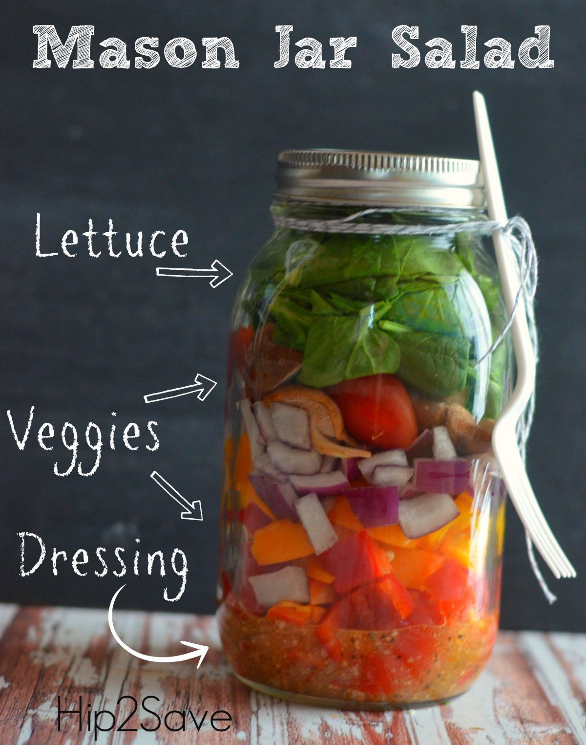 Mason Jar Salad Hip2Save