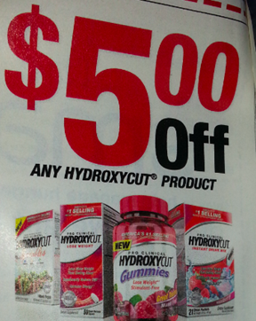 photograph relating to Hydroxycut Printable Coupons called Substantial Expense $5/1 Hydroxycut Materials Coupon within just 2/2 SS
