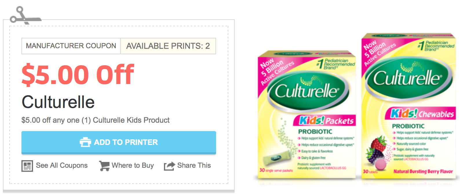 High Value 5 1 Culturelle Kids Product Coupon Possibly Better Than Free At Cvs Starting 2 16 Hip2save