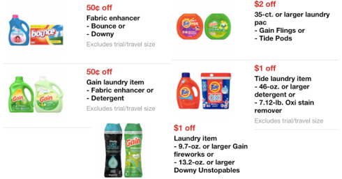 Target: New Laundry Products Mobile Coupons