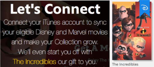 Disney Movies Anywhere: Connect iTunes Account = FREE The