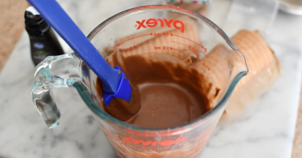stirring melted chocolate
