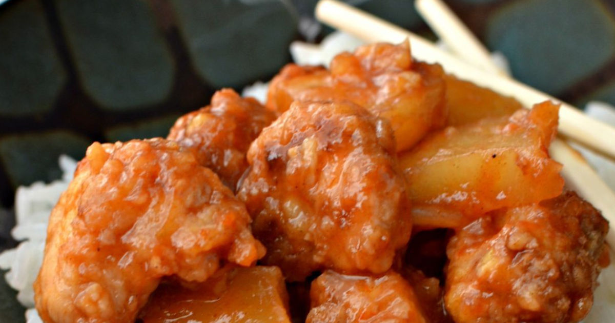 easy sweet and sour chicken recipe on rice